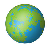 Natural earth globe Royalty Free Stock Photos