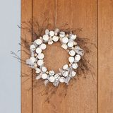 Natural Easter wreath on the door royalty free stock images