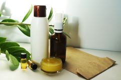 Natural eco cosmetics stock photography