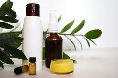 Natural eco cosmetics stock photo
