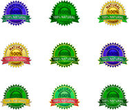 Natural eco labels set Stock Image