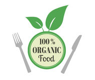 Natural eco organic product label badge  icon Stock Photos