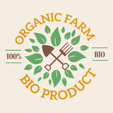 Natural eco organic product label badge  icon Stock Photo