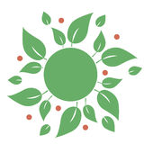 Natural eco organic product label badge vector Stock Image