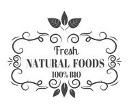 Natural eco organic product label badge vector Royalty Free Stock Photo