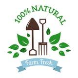 Natural eco organic product label badge vector Royalty Free Stock Photos