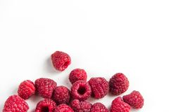 natural eco raspberries  on white Stock Photography