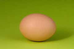 Natural egg. Fresh natural egg on a green background Royalty Free Stock Images