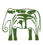Natural Elephant Royalty Free Stock Images