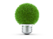 Natural energy concept, green light bulb Stock Image