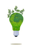 Natural energy concept. with Light bulb Royalty Free Stock Image