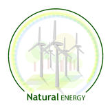 Natural energy logo Stock Photography
