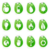 Natural energy symbols Royalty Free Stock Image