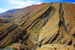 Natural erosion. In Atlas Mountains, Morocco, Africa stock image