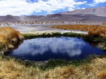 Natural eye formation in the salar Stock Images