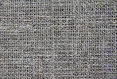Natural fabric. Burlap for embroidery (gray - brown Royalty Free Stock Photos
