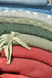 Natural fabric covers Stock Images