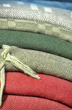 Natural fabric covers Stock Photography