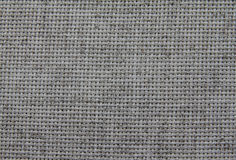 Natural fabric. Natural linen fabric for embroidery (gray Royalty Free Stock Photo