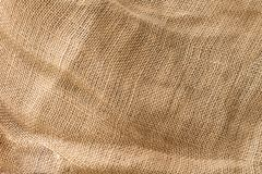 Natural fabric linen texture, beige color, unbleached material for design. stock image