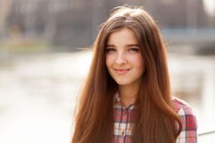 Natural face portrait of a beautiful young woman Royalty Free Stock Photo