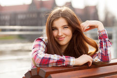 Natural face portrait of a beautiful young woman Royalty Free Stock Images