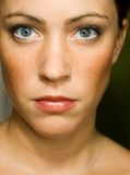 Natural face of woman Stock Images