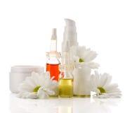 Natural facial cosmetics products Royalty Free Stock Image