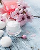 Natural facial cream Royalty Free Stock Photos