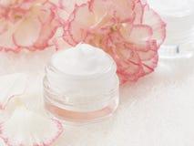 Natural facial cream Stock Image
