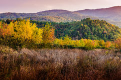 Natural Fall Landscape With Mountains Stock Photos