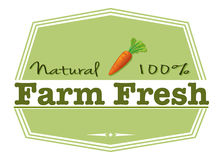 A natural farm fresh label Royalty Free Stock Photos