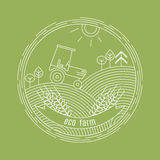 Natural Farm vector logo design template. Agriculture emblem royalty free illustration