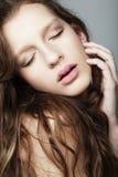 Natural fashion make-up Stock Photo