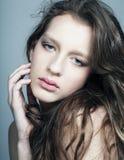 Natural fashion make-up Stock Photos