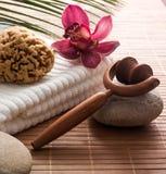 Feng shui femininity. Natural femininity enhanced at the beauty spa royalty free stock photo