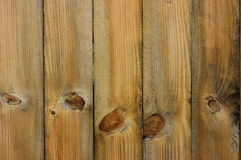 Natural Fence Background with Knots. A background shot shows natural fencing, with knots in planks Royalty Free Stock Image