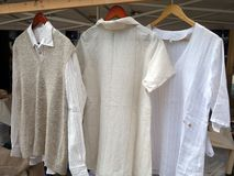 Natural Fibre Shirts, Milan Stock Photography
