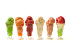 Natural flavored ice cream Stock Photography