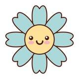 Natural flower spa kawaii character stock illustration