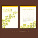Natural flyer or leaflet design. Creative natural flyer or leaflet design stock illustration