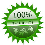 Natural food. Icon for 100% natural and organic food Stock Illustration