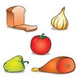Natural food. Vector set illustration stock illustration