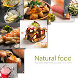 Natural food collage Stock Image