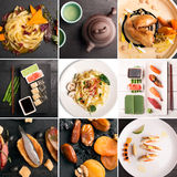 Natural food collage Stock Photography