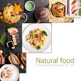Natural food collage Royalty Free Stock Image