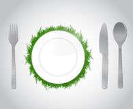 Natural food concept illustration design Stock Images