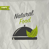 Natural food design Royalty Free Stock Images