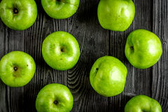 natural food design with green apples dark desk background top view pattern royalty free stock photo