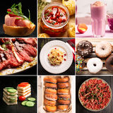 Natural food and drink (various cuisines) Royalty Free Stock Photo